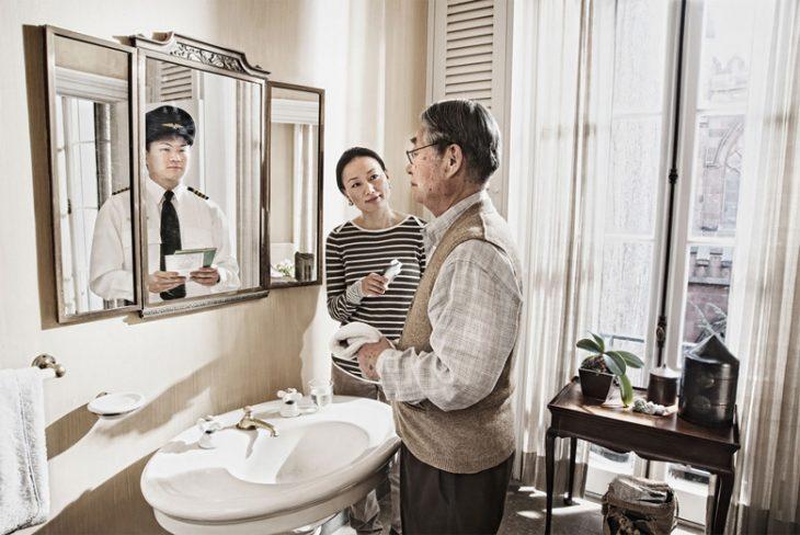 Tom Hussey galería reflexiones hombre asiático