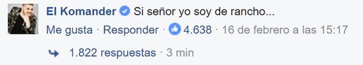 Respuesta de El Komander a Metallica