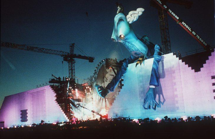 Roger Waters en el muro de Berlín