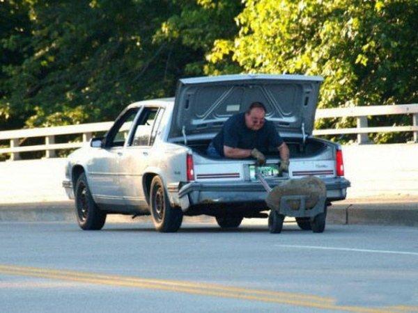 Transporta en cajuela hombre