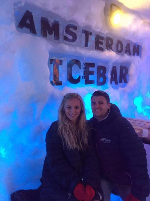 Jessica y Rich ice bar