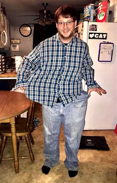 Danny perdió la mitad de su peso