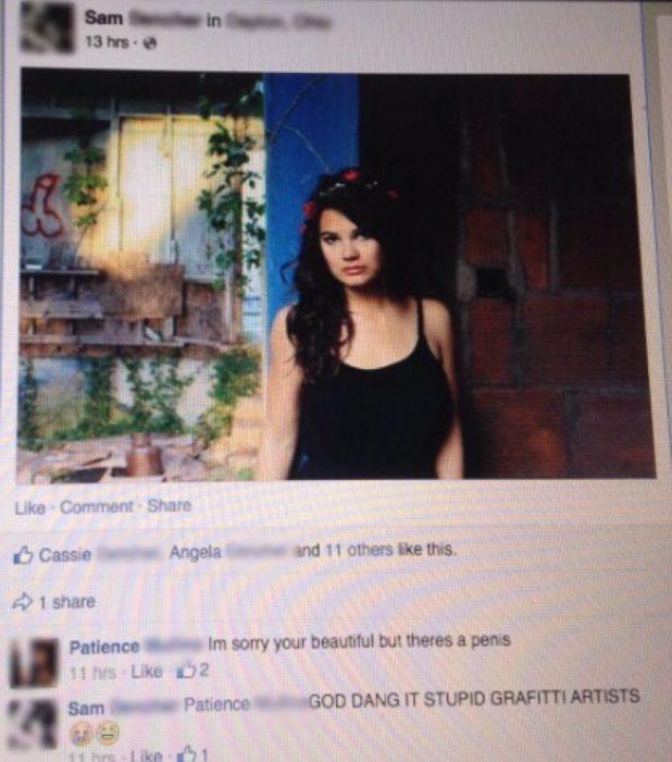 Captura de pantalla chica fotografía grafiti