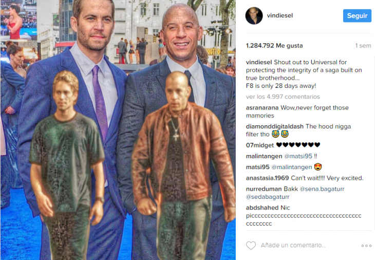 Vin Diesel llora al recordar a Paul Walker