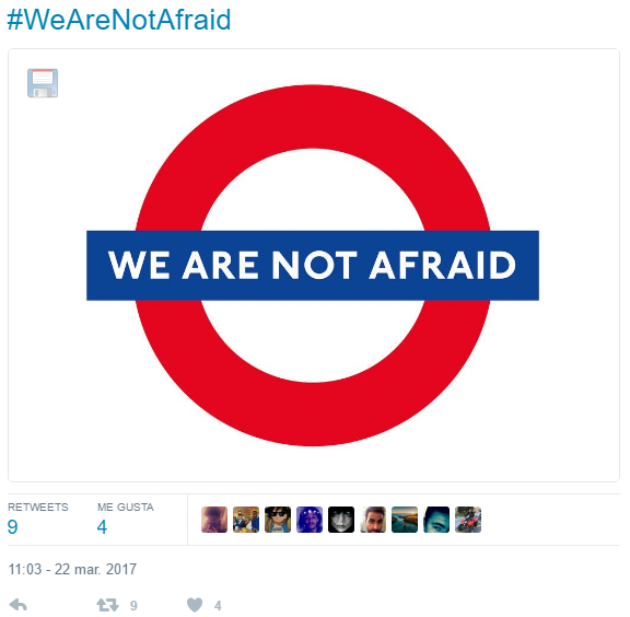 #wearenotafraid