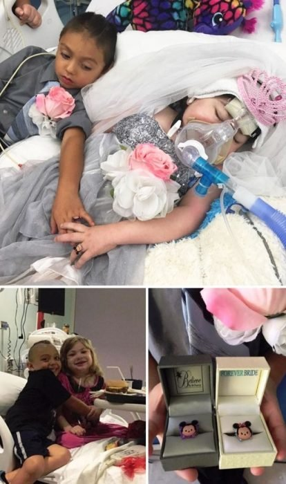 Boda de niños en hospital