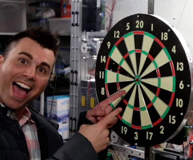 mark rober dart board
