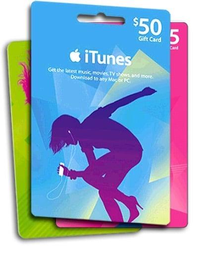 Tarjetas de regalo de iTunes