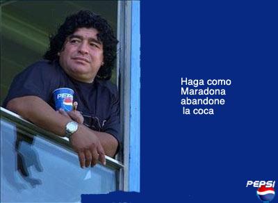 Maradona en comercial de Pepsi