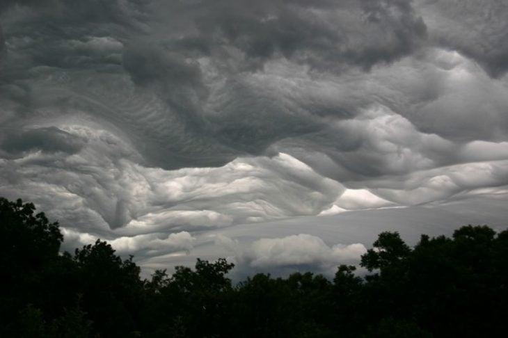 Nubes ondulantes