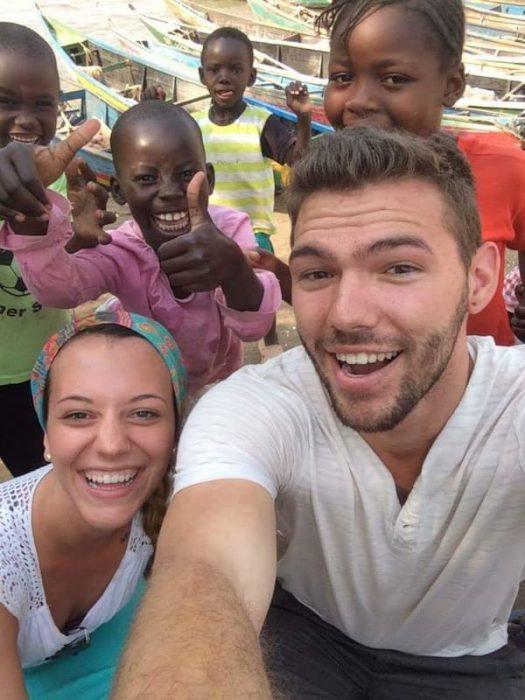 Pareja en África