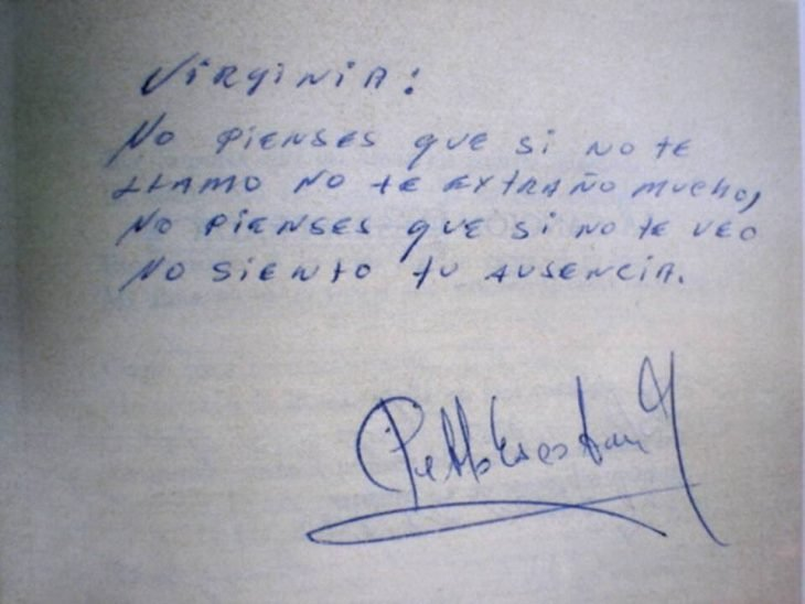 Nota de Pablo Escobar a su amante