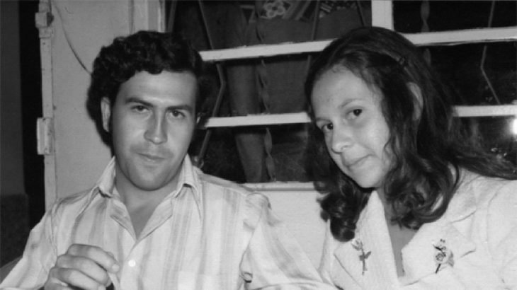 Pablo Escobar con su novia