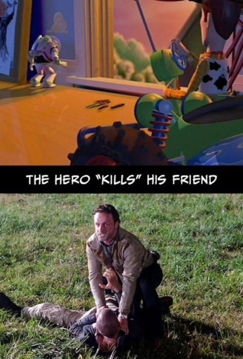 heroe mata amigo