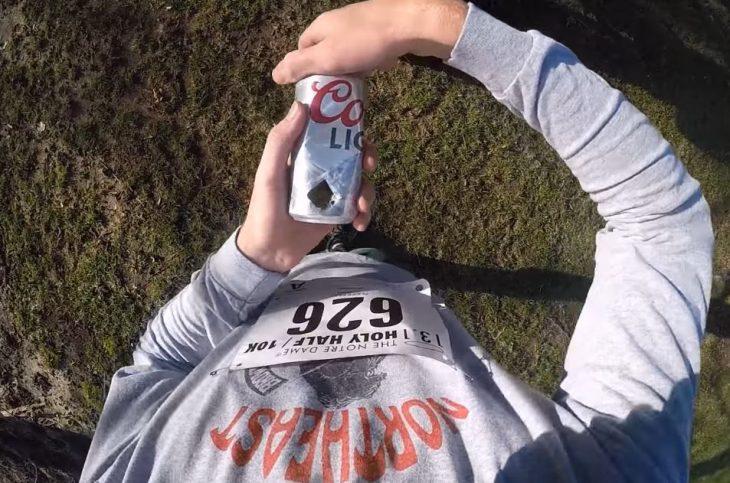 corre maraton 1 cerveza por milla y termina antes que muchos
