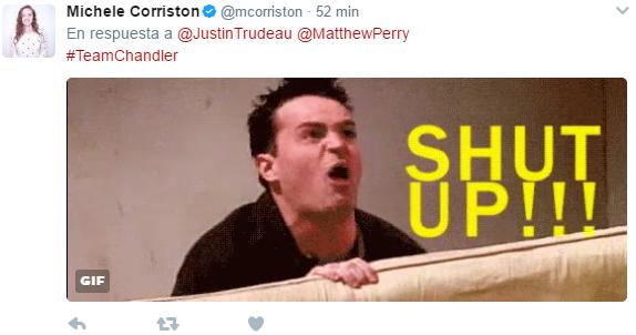 Trudeau quiere la revancha con Matthew Perry