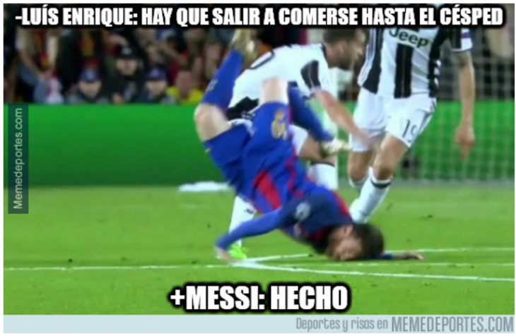 messi come cesped