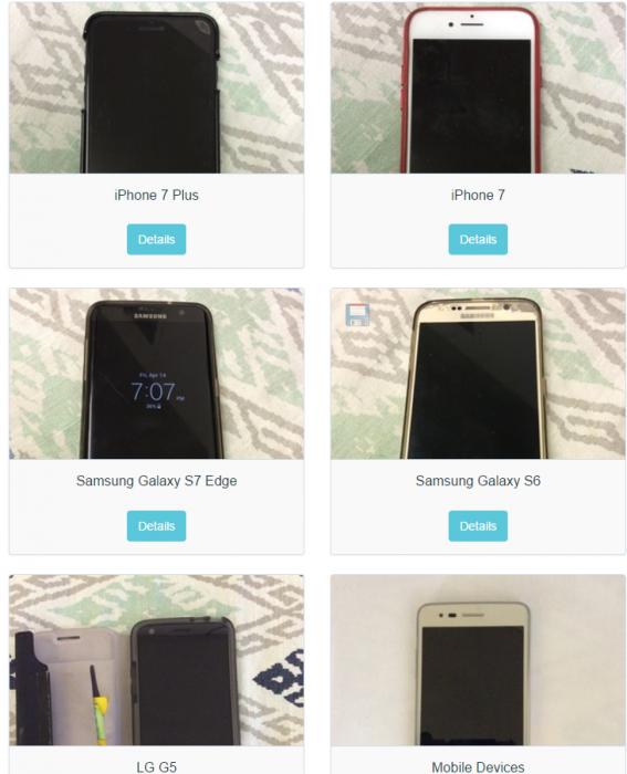 celulares perdidos
