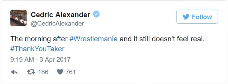 Cedric alexander tweet undertaker