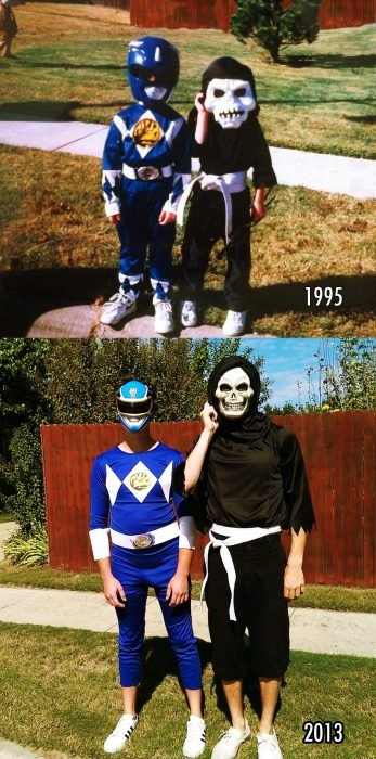 then now power rangers