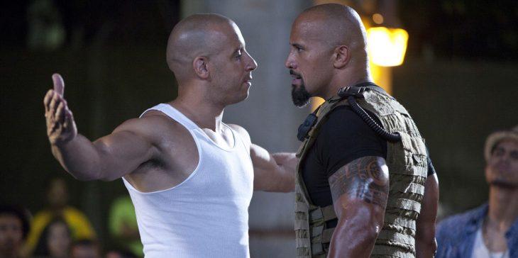 Vin Diesel y La Roca
