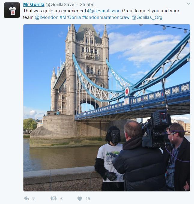 Mr. Gorilla puente prensa tuit