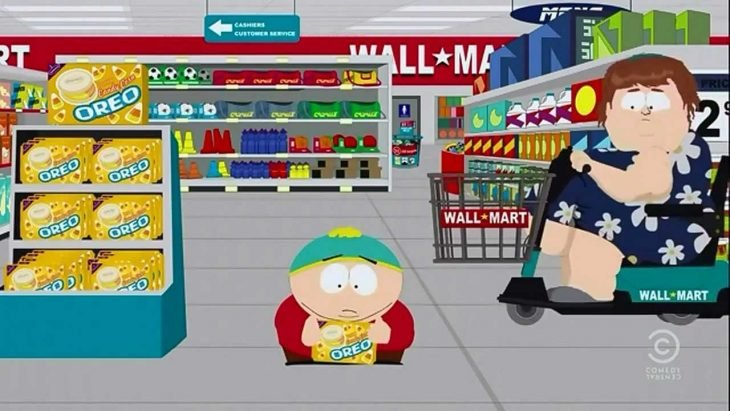 Cartman personas gordas super mercado