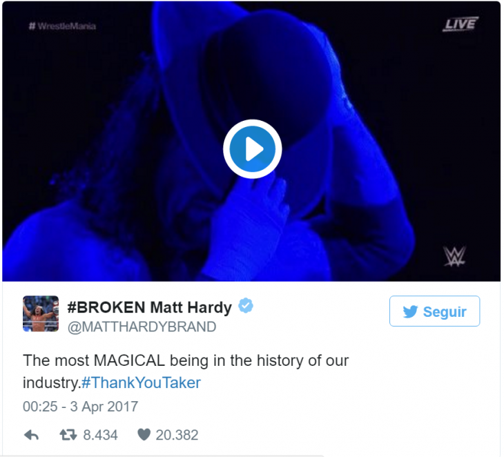 matt hardy undertaker tweet
