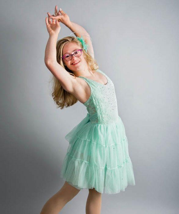 Mikayla, bailarina con síndrome de Down