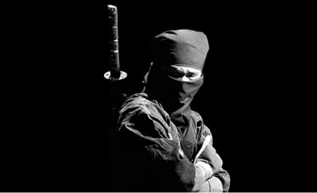 Fotografía de un ninja