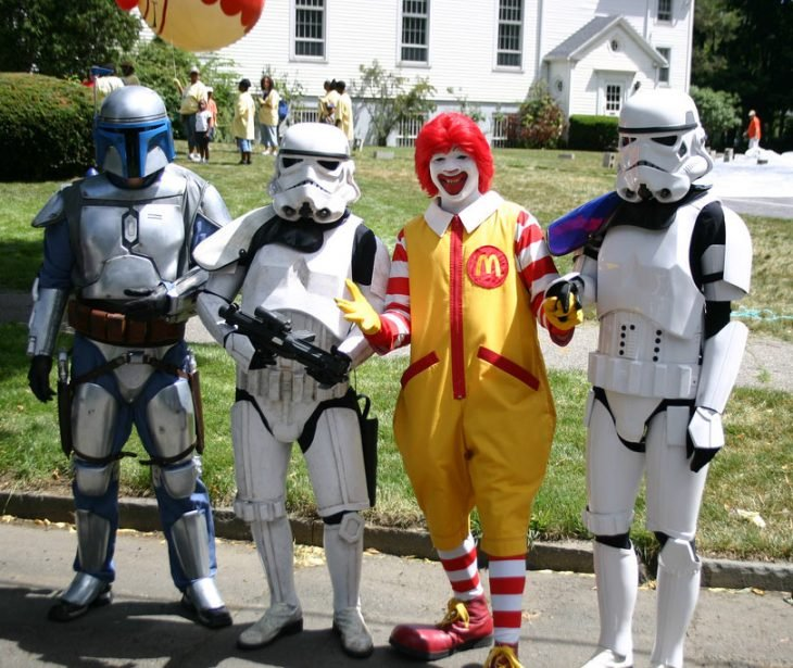 Donald McDonald's y troopers Star Wars