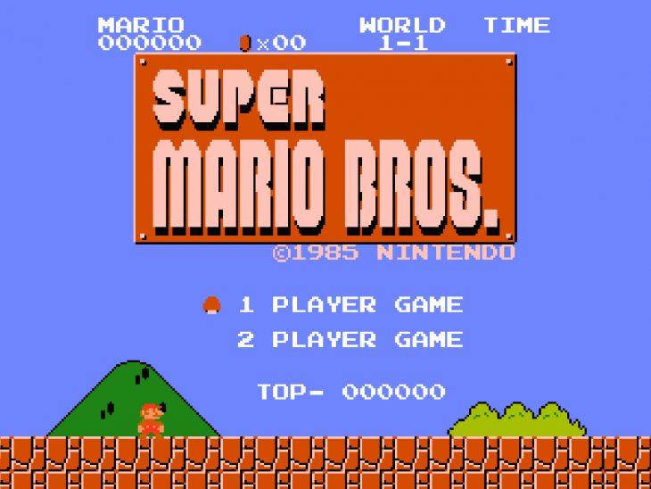 Pantalla de Super Mario Bros