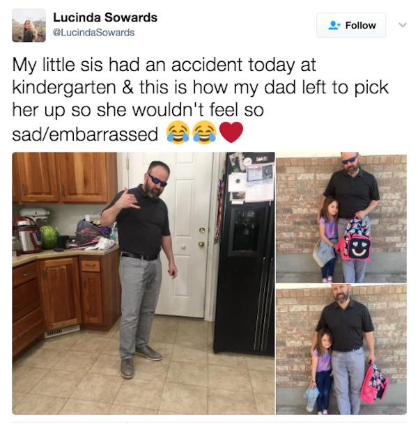 Papá moja sus pantalones