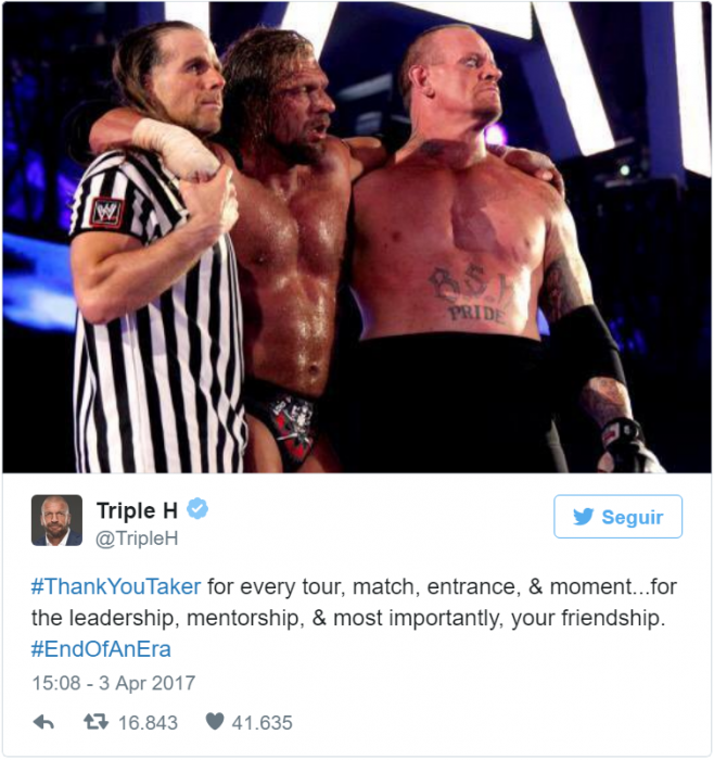 triple H tweet undertaker