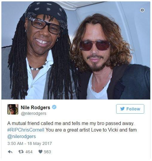 Twitter Chris Cornell Eddie Vedder