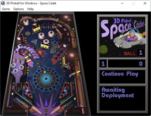 3D Arcade Space Cadet Pinball