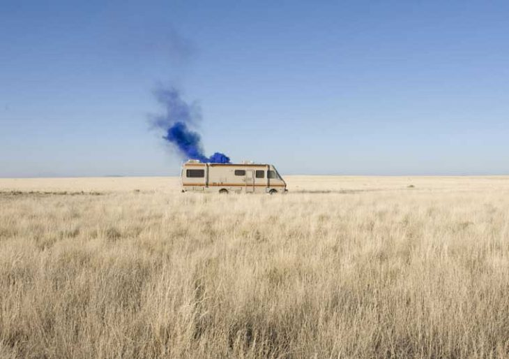 breaking bad camper humo azul