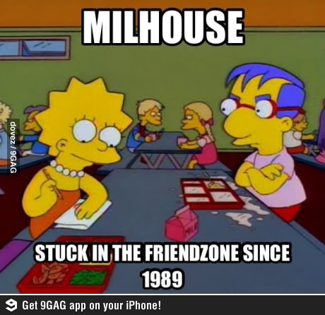 Friendzone Milhouse los simpsons