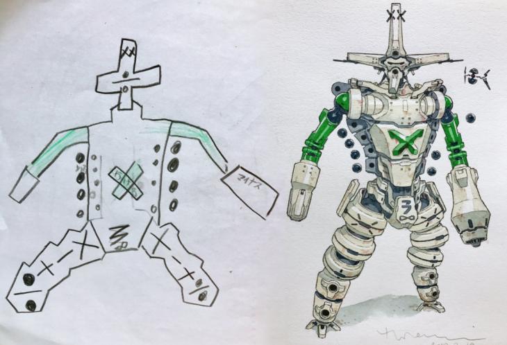 robots dibujos niños