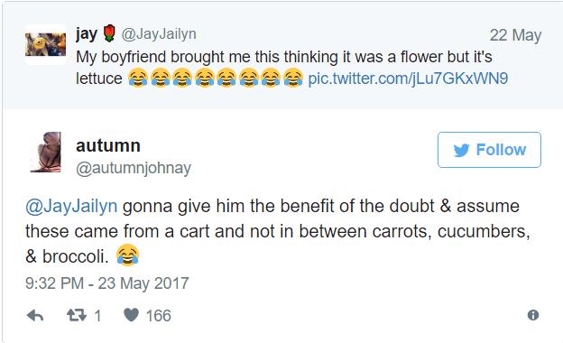 confunde lechugas por flores