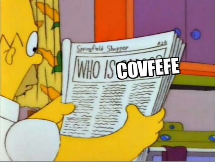 covfefe homero simpson