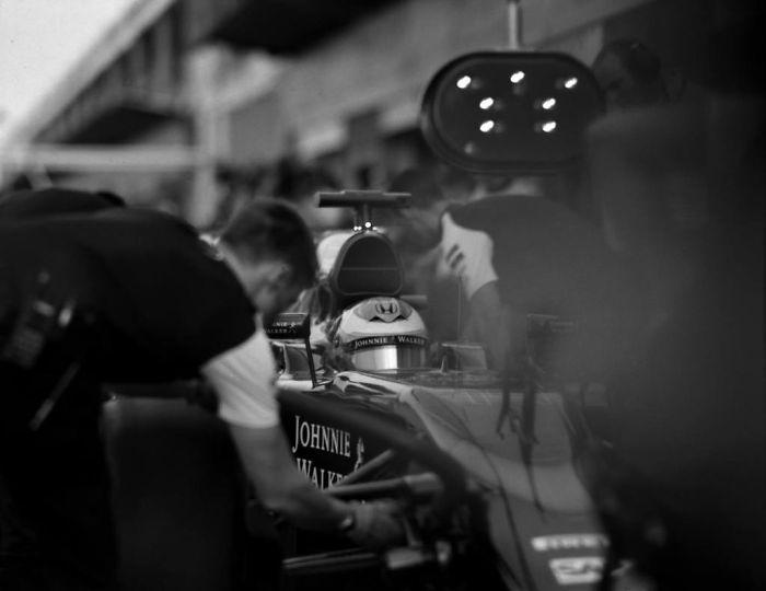 Fórmula 1 con cámara antigua