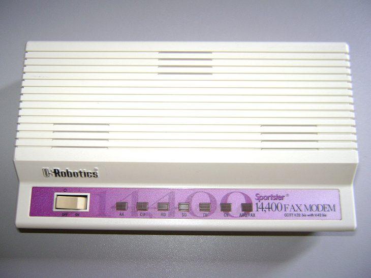 Viejo fax módem
