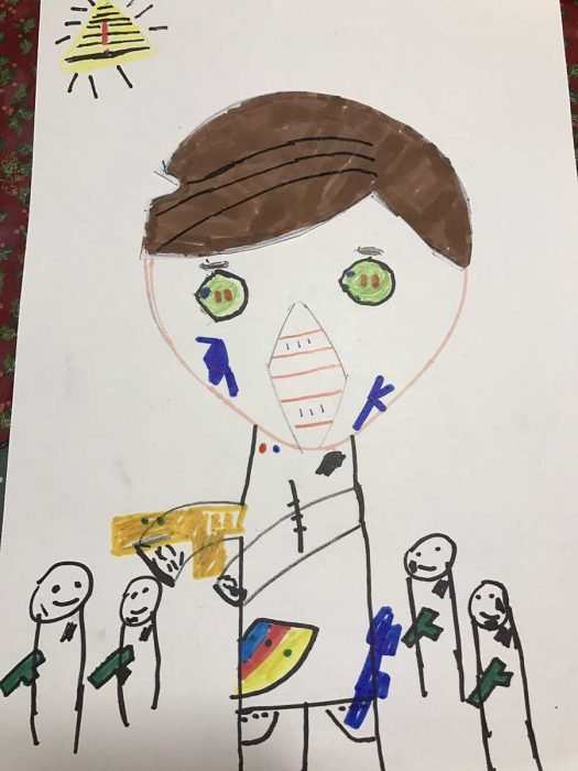 dibujo niño