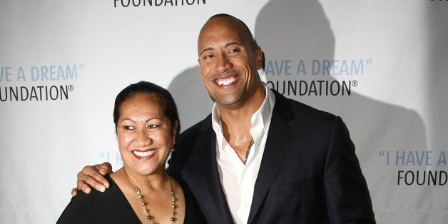 la roca y mama