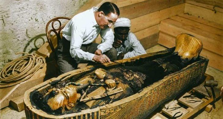 descubren a tutankamon