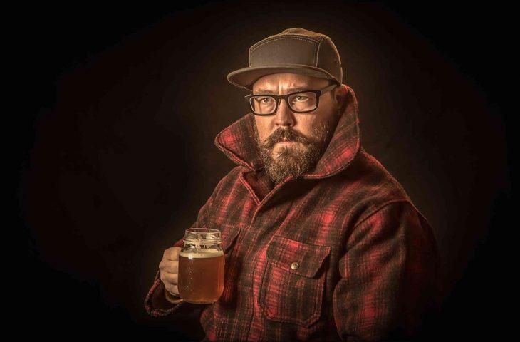 hipster y cerveza artesanal