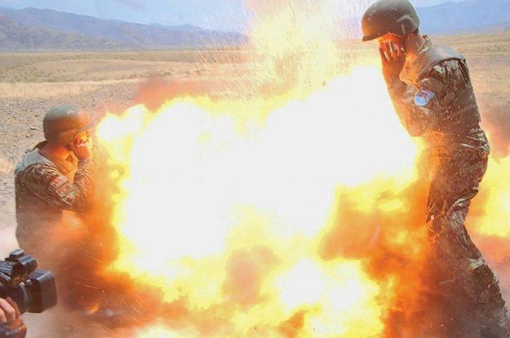 Fotografía de una explosión