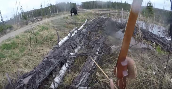 lo ataca un oso y lo filma todo