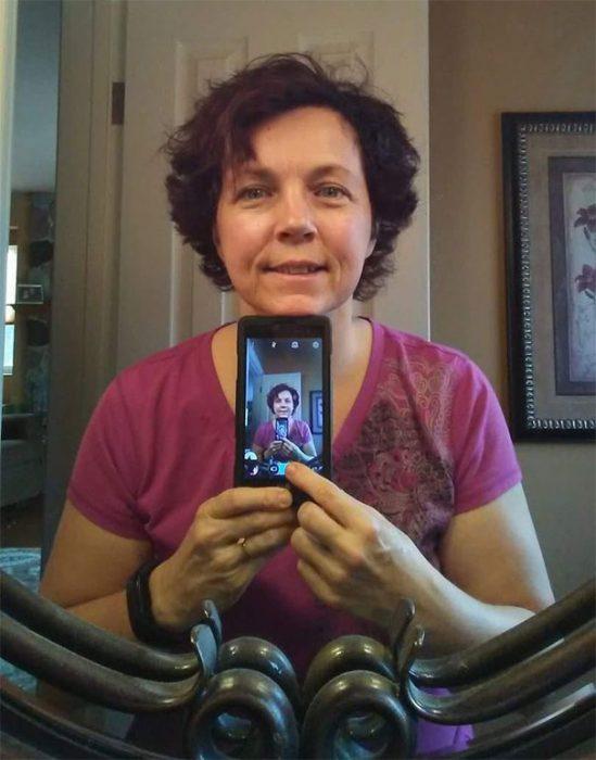 mamá selfie